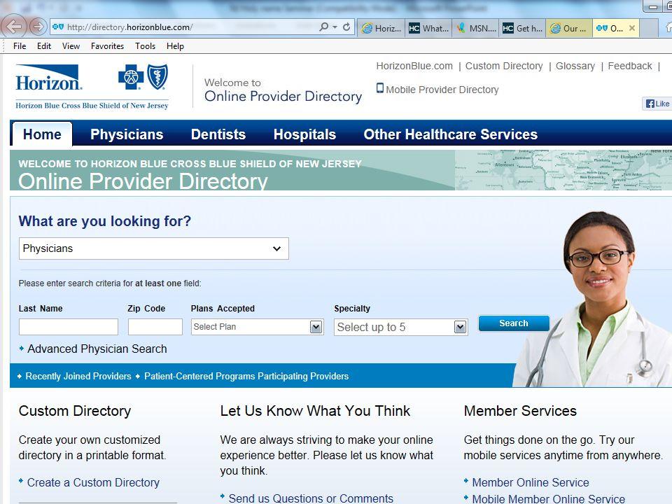 뉴저지 건강보험  Healthcare gov 4 July 1, 2013 DRAFT