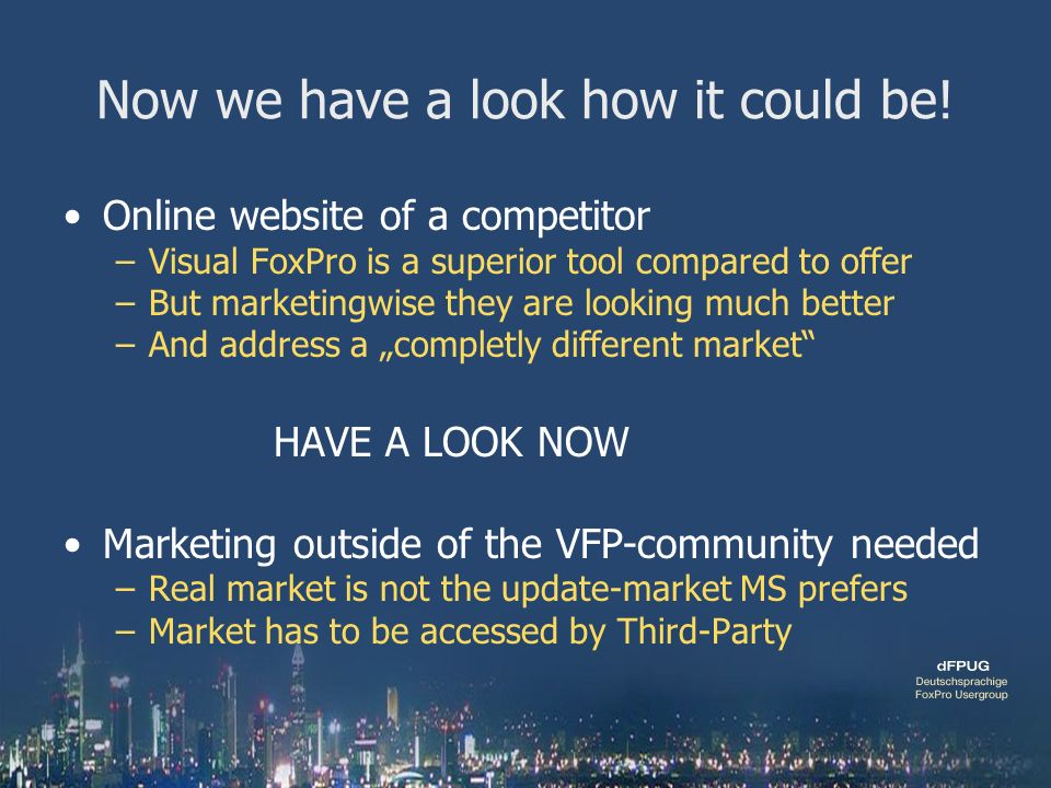 Trends you need to know for Visual FoxPro 9 0 and above German