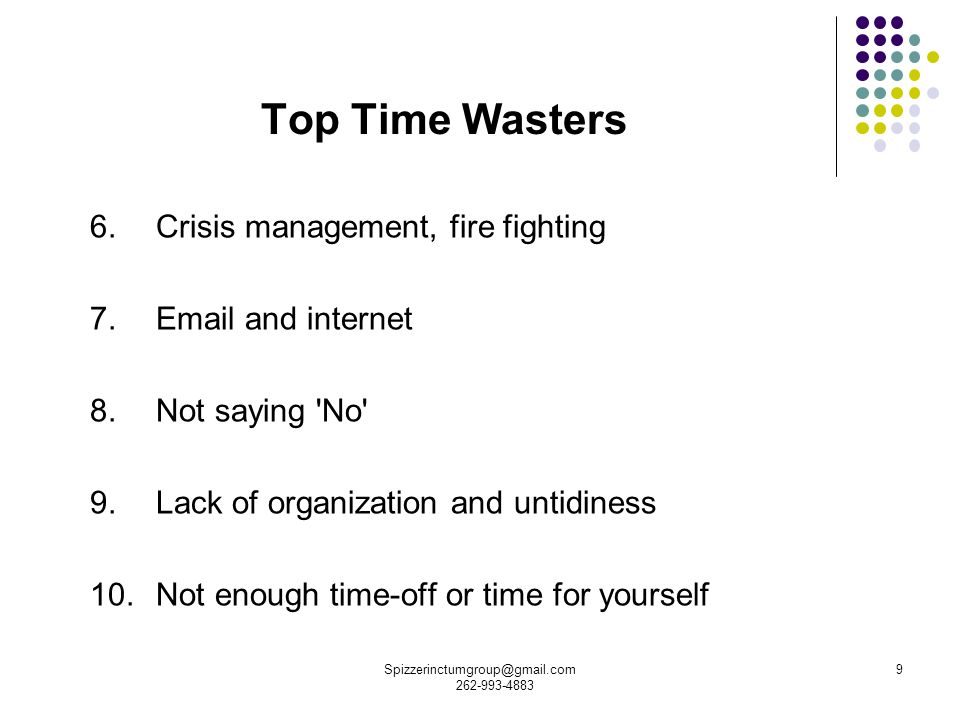 top 10 time wasters