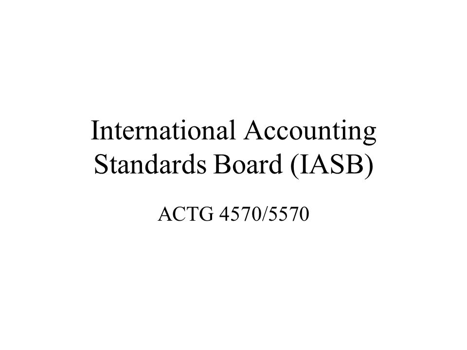 role of iasb in international accounting