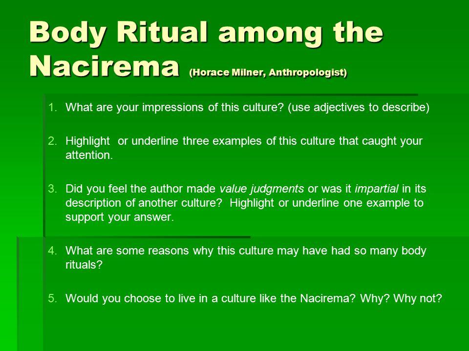 body ritual of the nacirema article