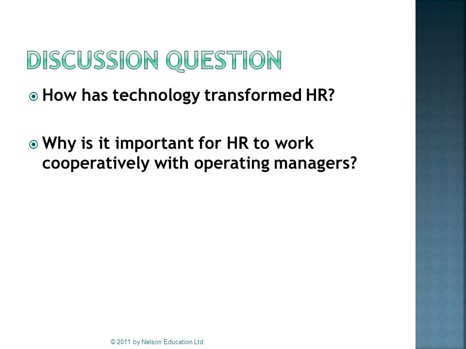  How has technology transformed HR.