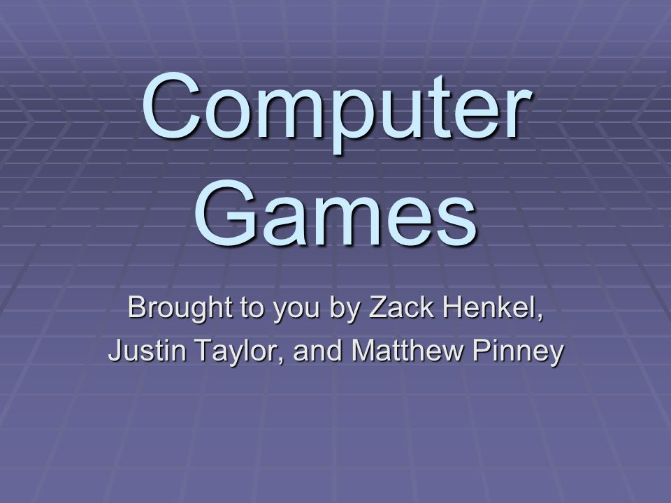 Computer Games An in-depth look at the process by which