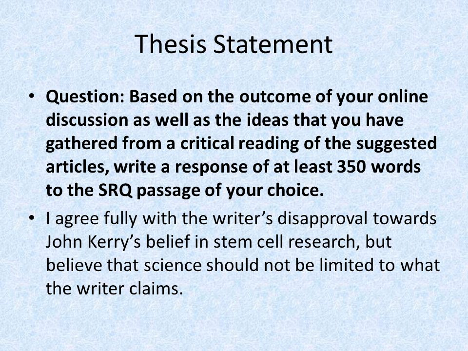 the thesis statement or claim of an argumentative essay should brainly