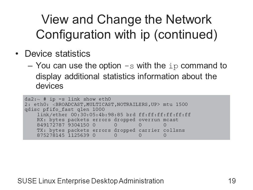 SUSE Linux Enterprise Desktop Administration Chapter 5