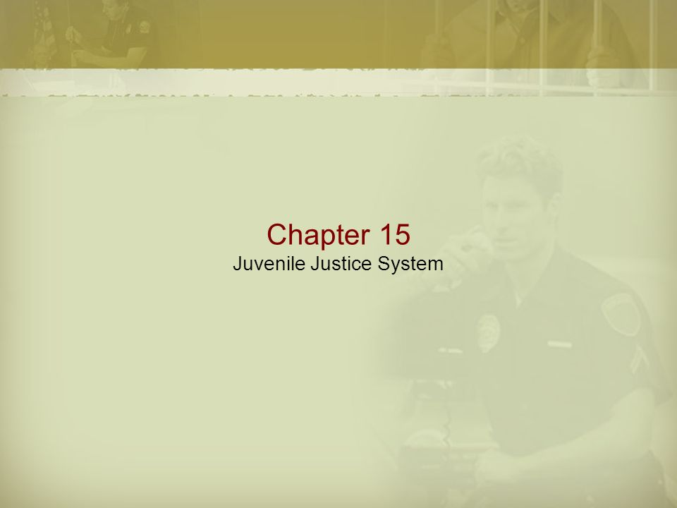 Chapter 15 Juvenile Justice System