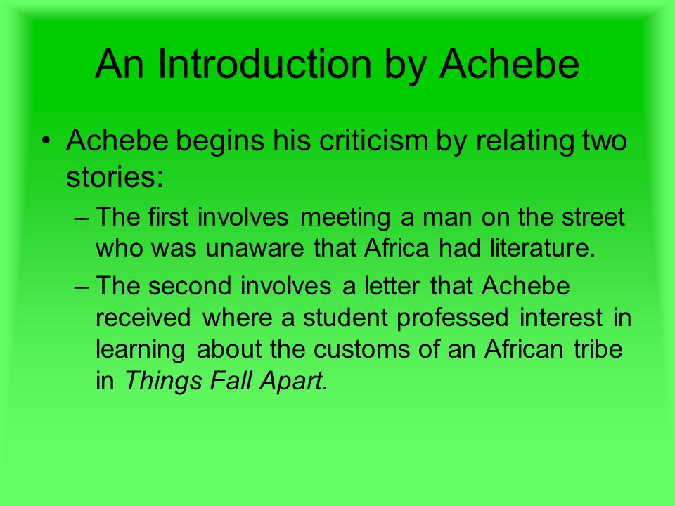 an image of africa thesis