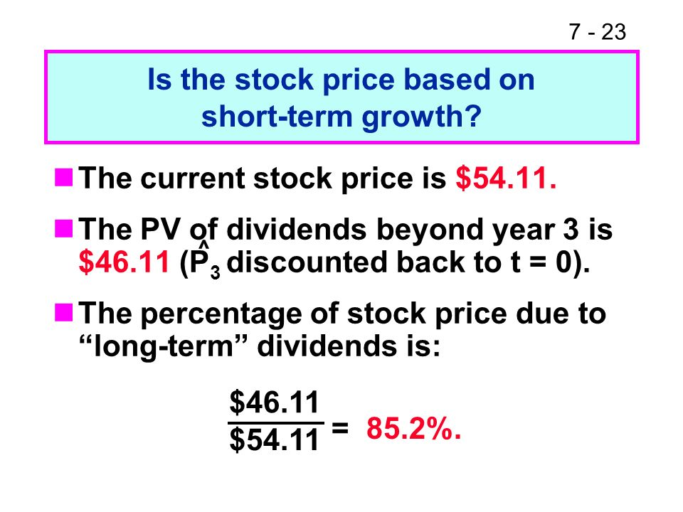 7 1 Chapter 7 Stocks And Their Valuation Features Of Common Stock