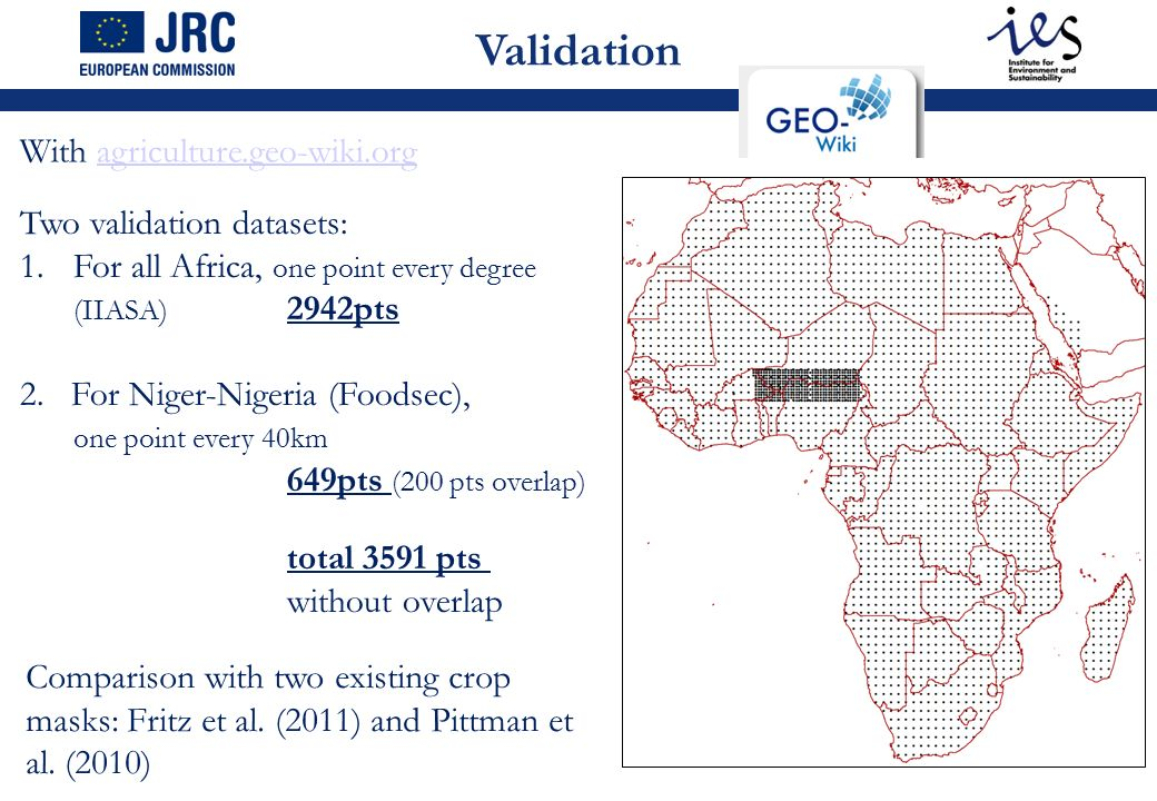 Mapping of cropland areas over Africa combining various land cover