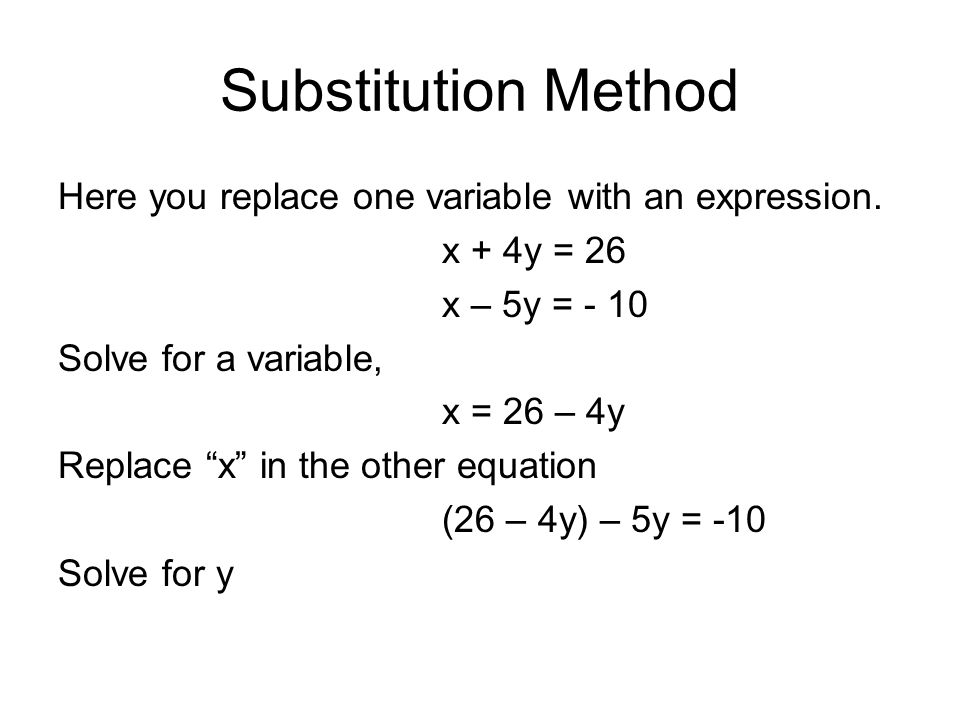 3 2 solving systems of equations algebraically substitution method