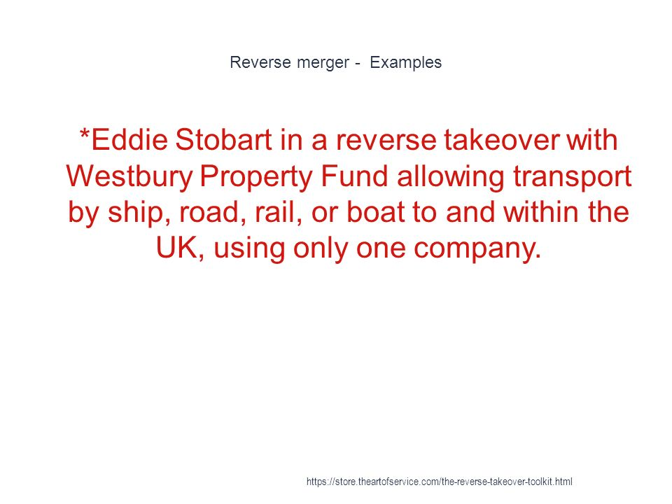 Reverse Takeover - ppt download
