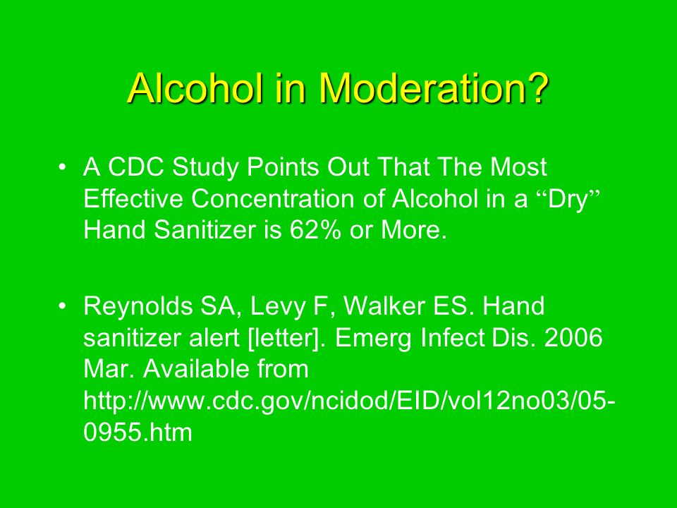 Alcohol in Moderation.