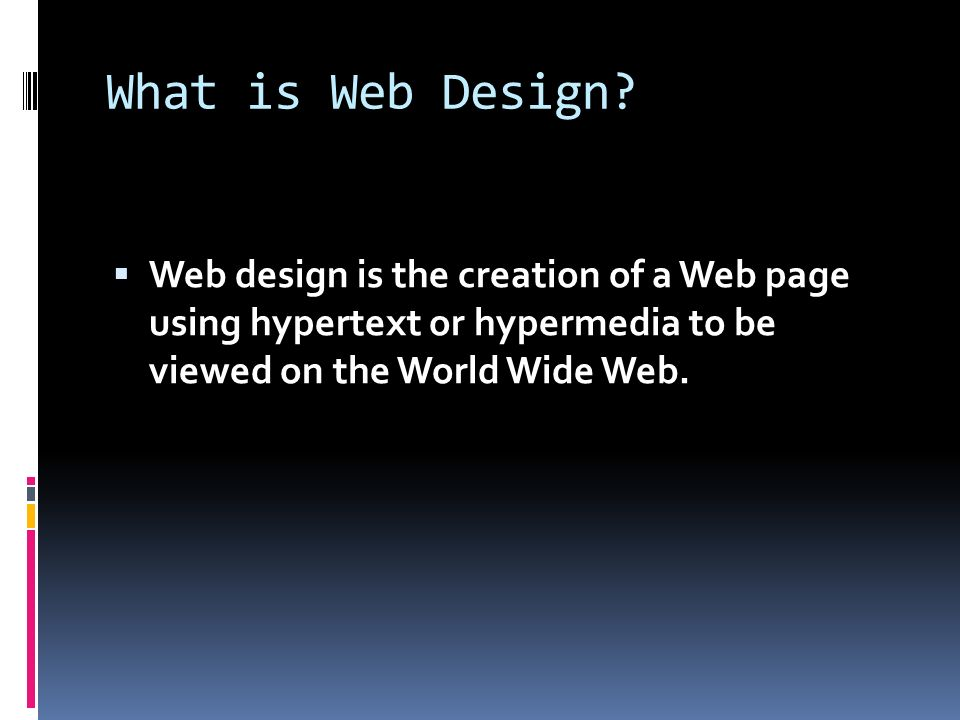What is Web Design.