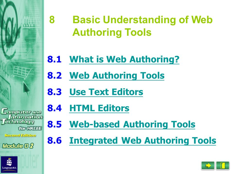 What is web authoring? Web authoring tools use text editors html.
