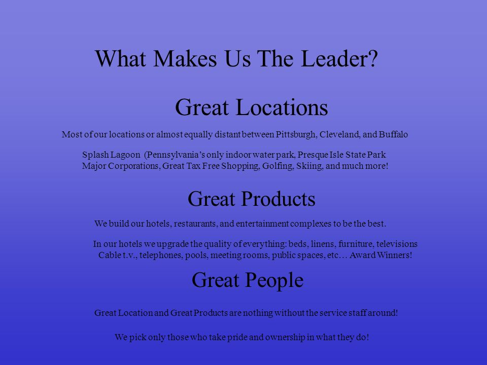 What Makes Us The Leader.
