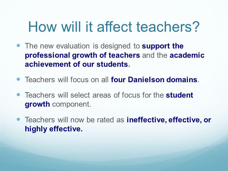 How will it affect teachers.