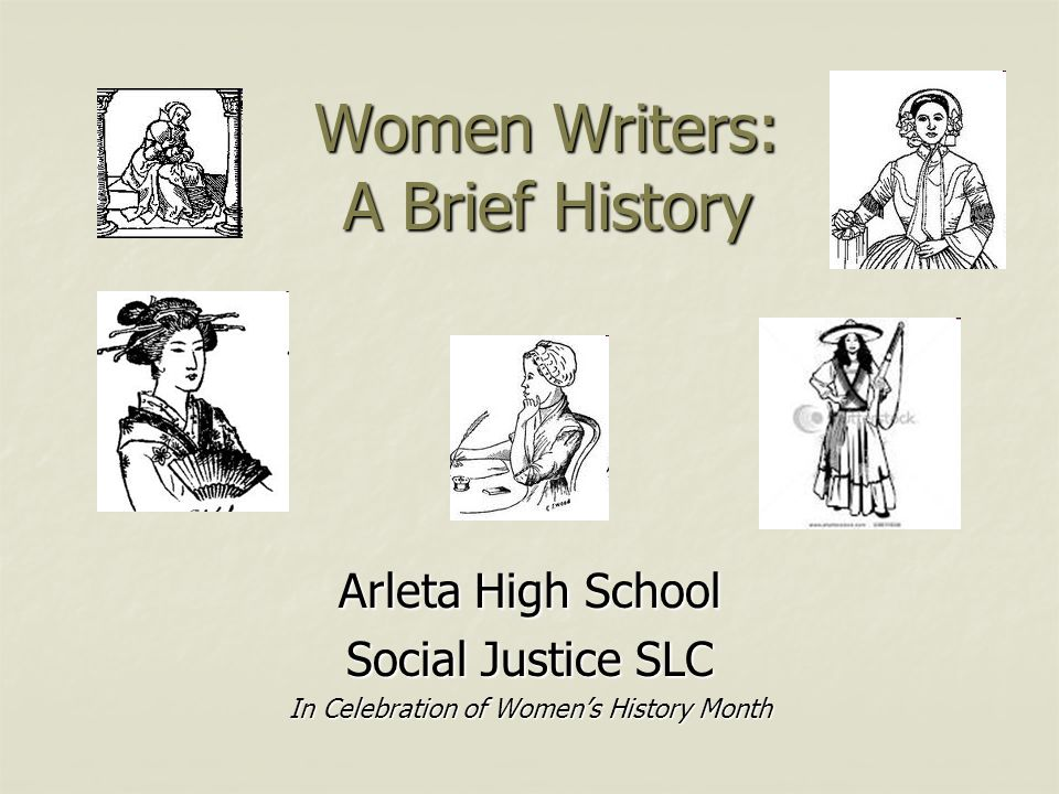 Women Writers: A Brief History Arleta High School Social Justice SLC ...