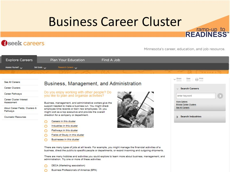 Business Career Cluster