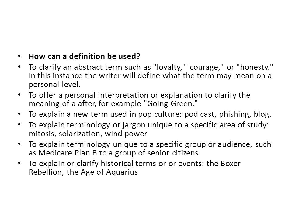 what is an abstract term
