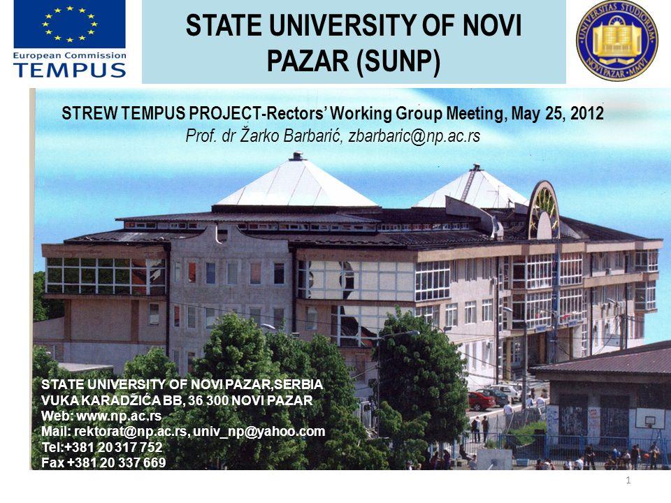 State University Of Novi Pazar Sunp 1 State University Of
