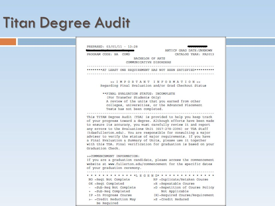 Titan Degree Audit