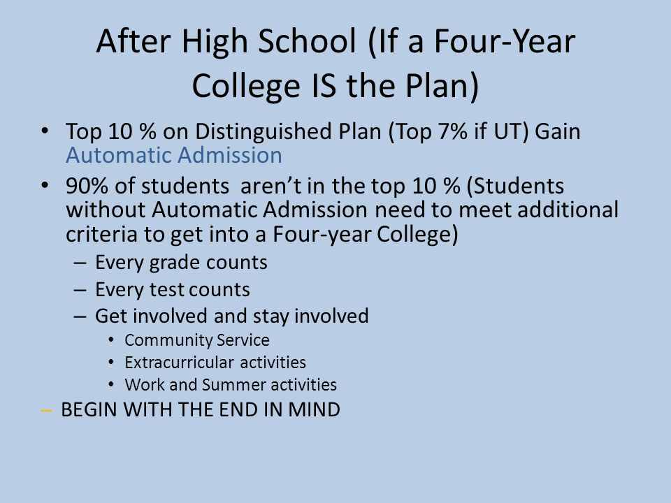 plans after college