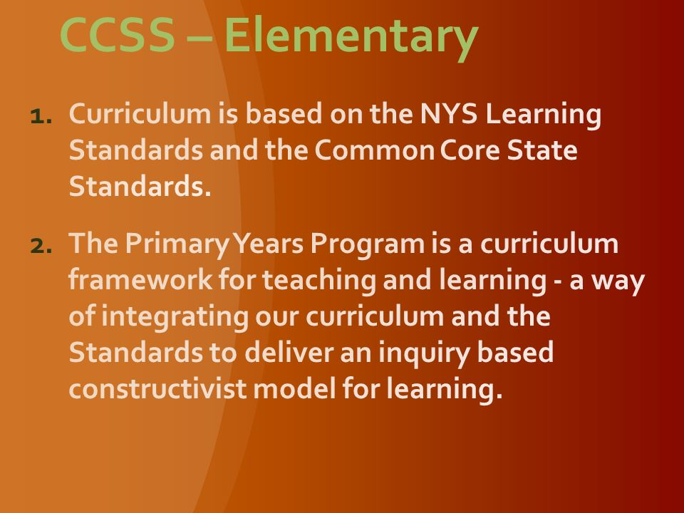 CCSS – Elementary