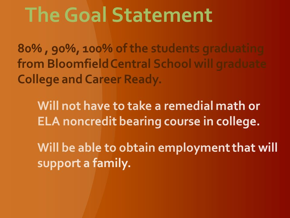 The Goal Statement