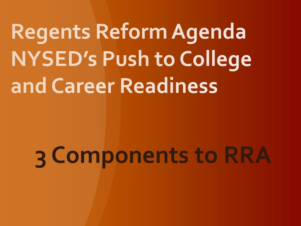 3 Components to RRA