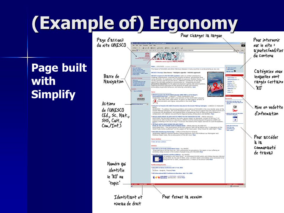 Page built with Simplify (Example of) Ergonomy