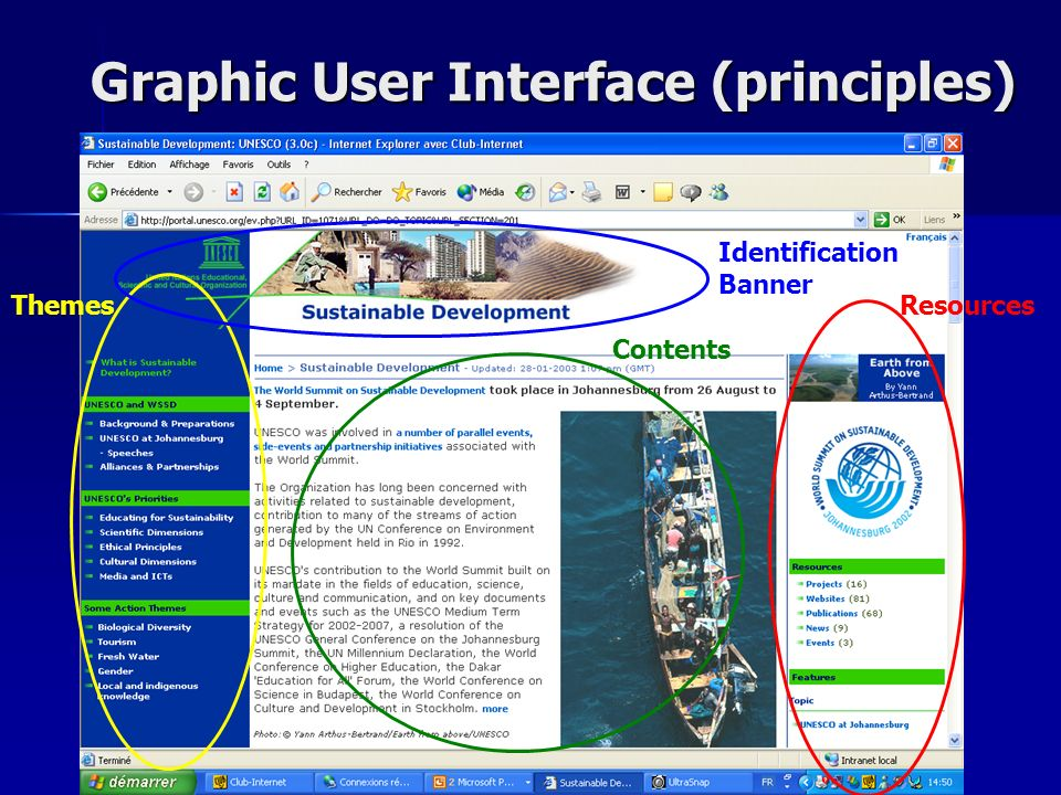 Graphic User Interface (principles) Graphic User Interface (principles) ThemesResources Identification Banner Contents