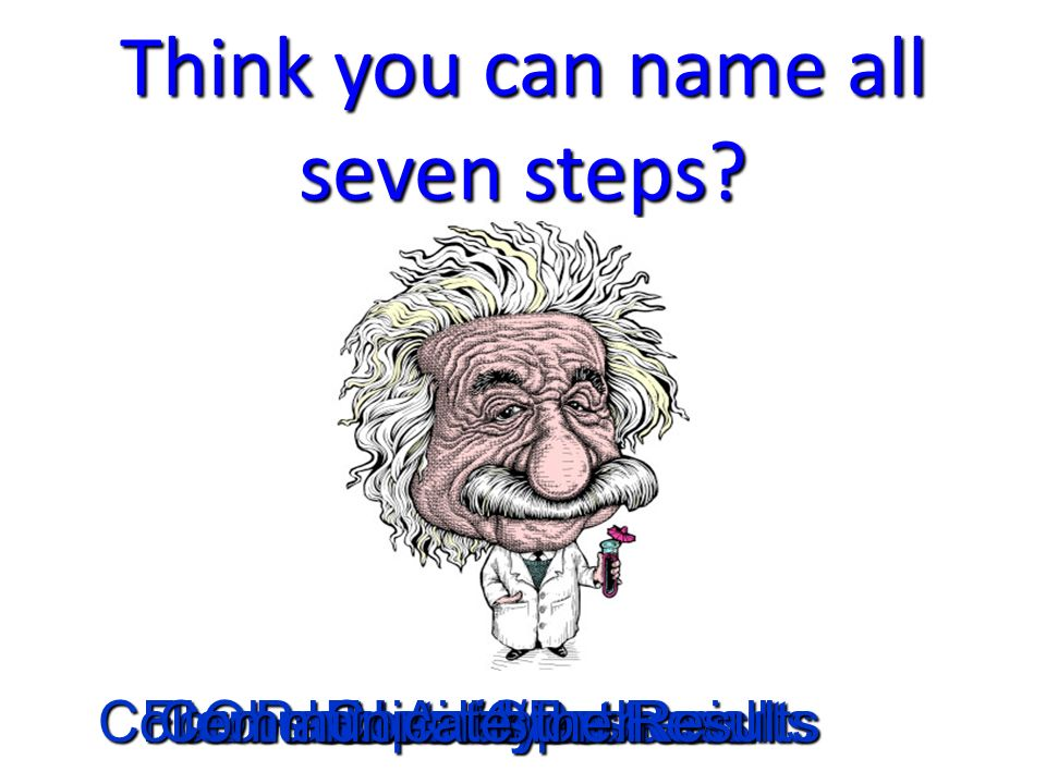 Think you can name all seven steps.