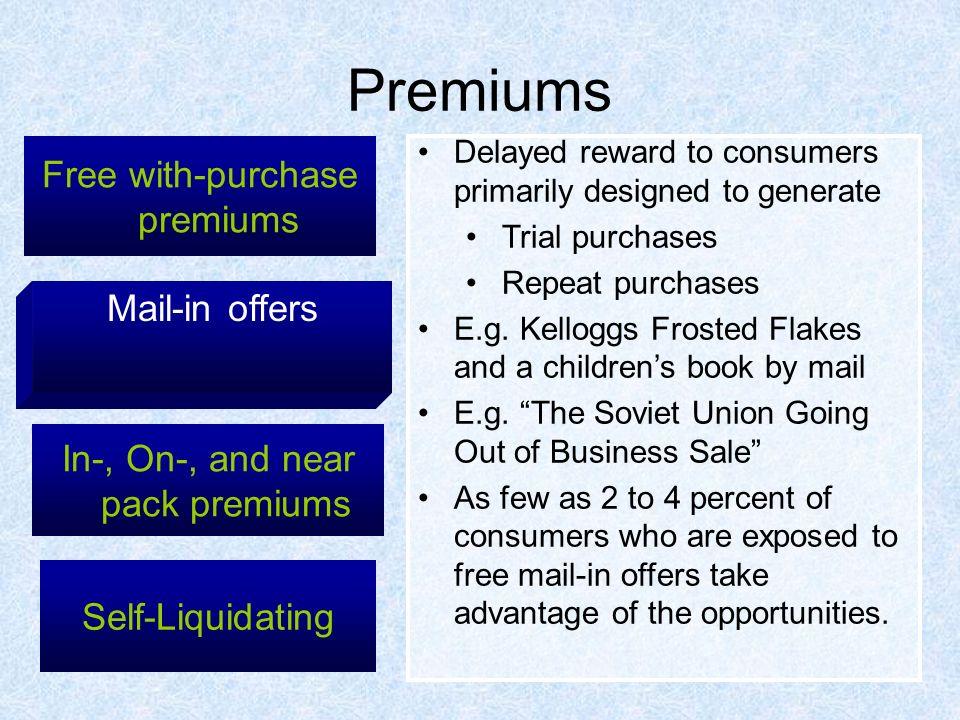 Self liquidating premium marketing union