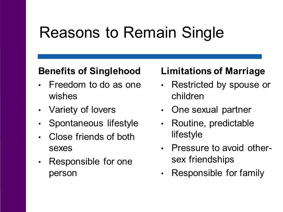 Benefits of singlehood