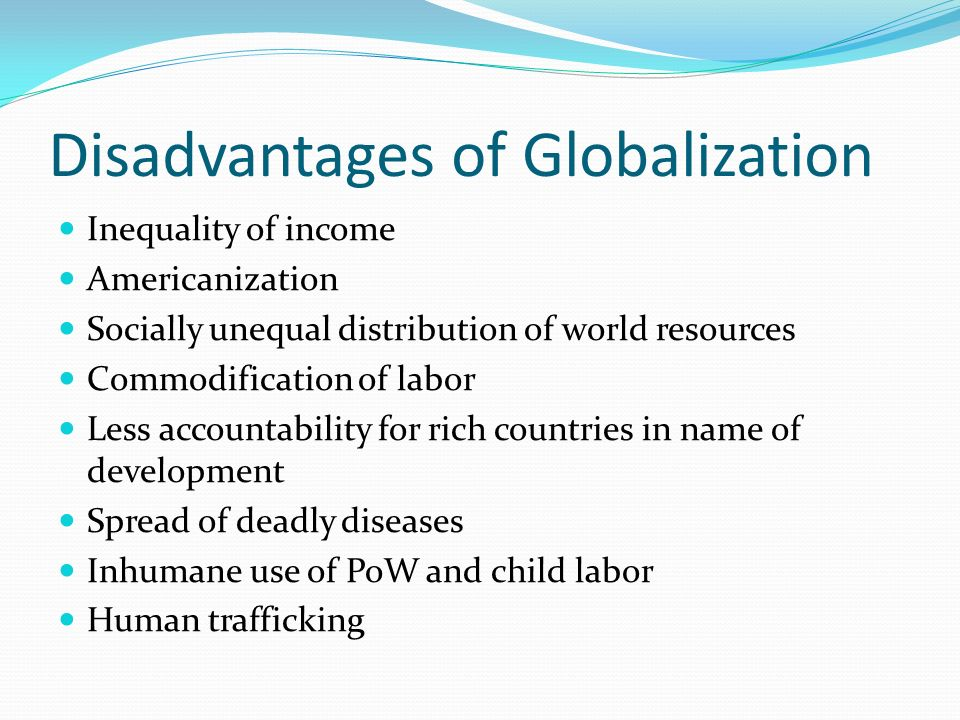 disadvantages of globalization in developing countries