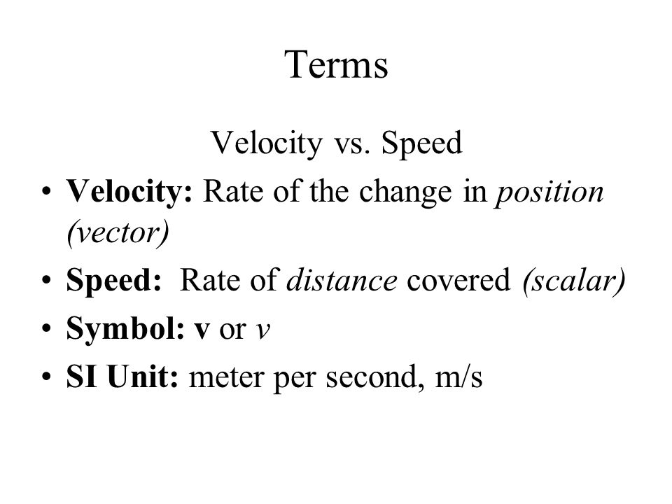 One Dimensional Motion Ap Physics C Terms Displacement Vs Distance