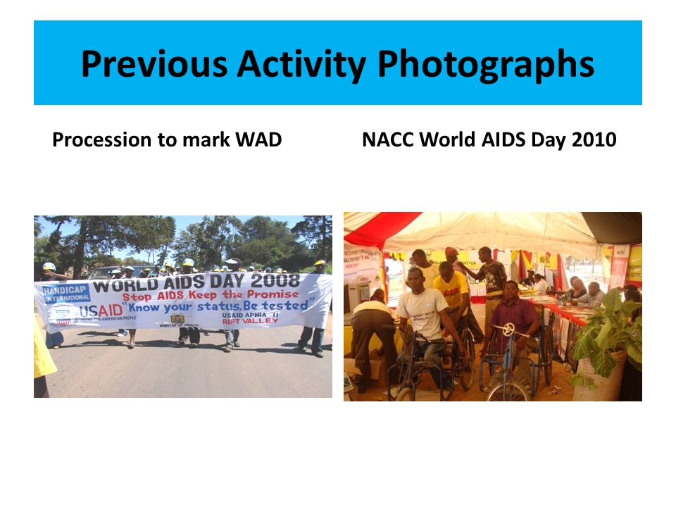 Previous Activity Photographs Procession to mark WADNACC World AIDS Day 2010