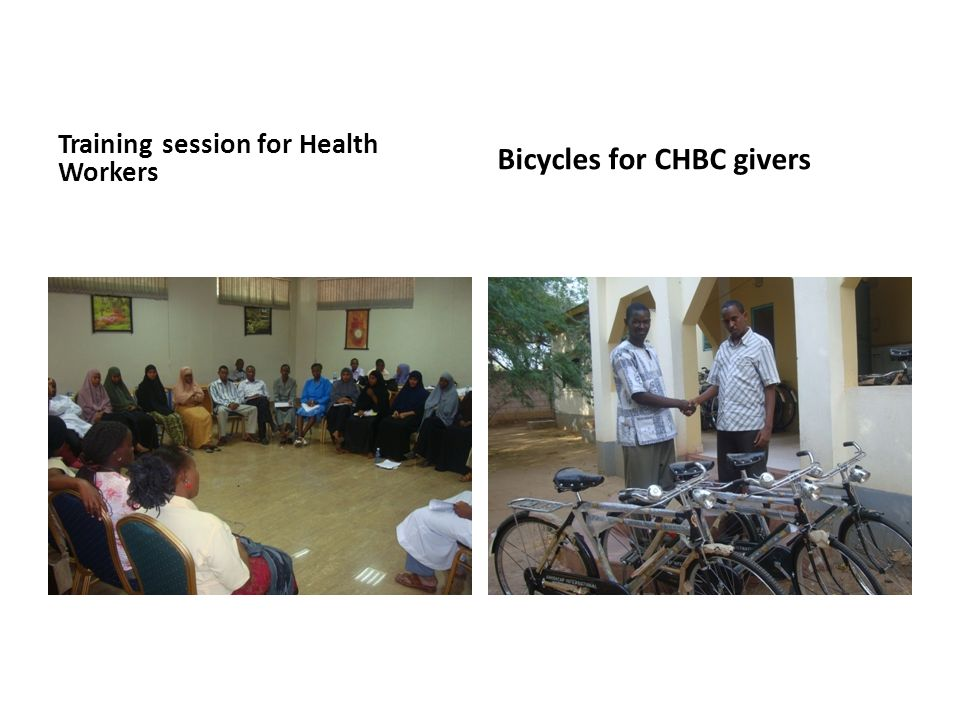 Training session for Health Workers Bicycles for CHBC givers
