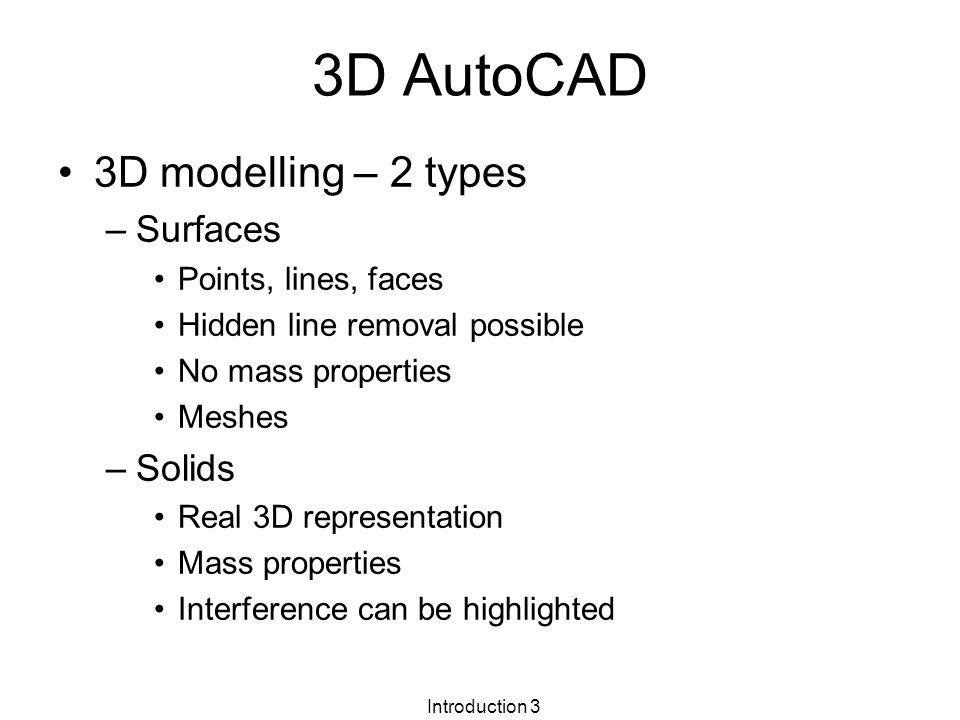 Introduction 1 3D Design and Solid Modelling Week 1 –City