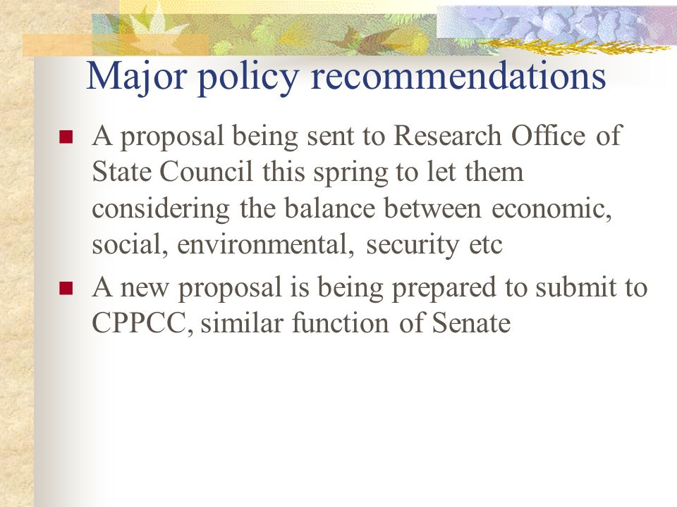 environmental considerations and recommendations essay On the basis of its investigations and deliberations, the committee reached the following conclusions and recommendations conclusion: most road projects today involve modifications to existing roadways, and the planning, operation, and maintenance of such projects often are opportunities for.