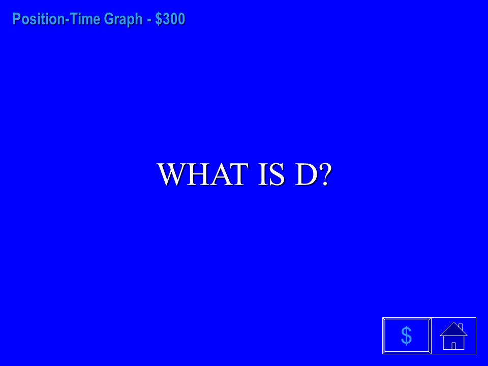 Position-Time Graph - $200 WHAT IS D $