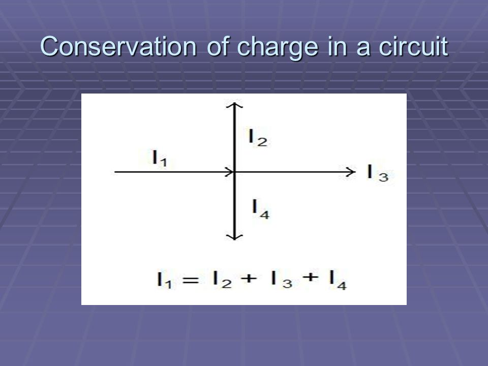 Conservation of charge in a circuit