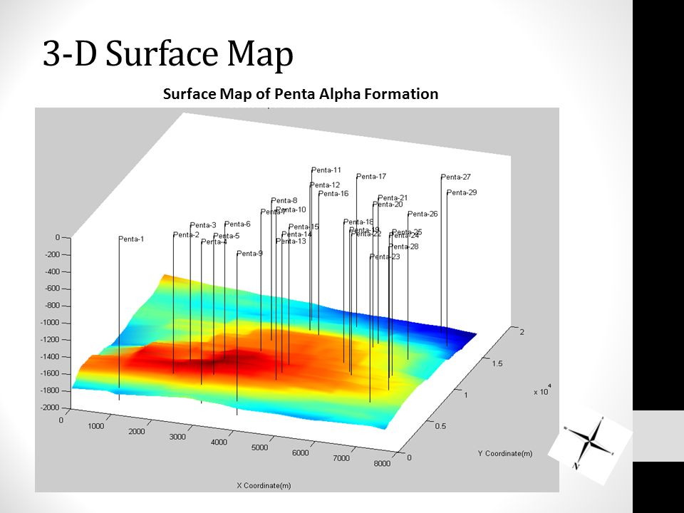 3-D Surface Map Surface Map of Penta Alpha Formation