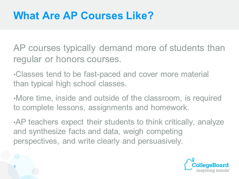 What Are AP Courses Like.