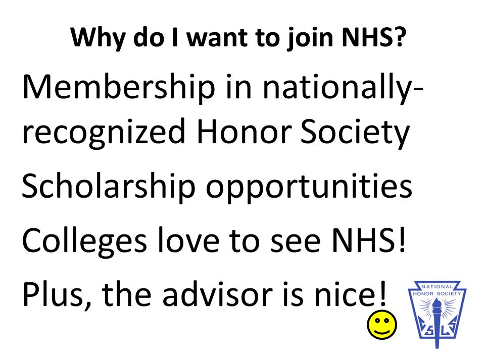 why join national honor society