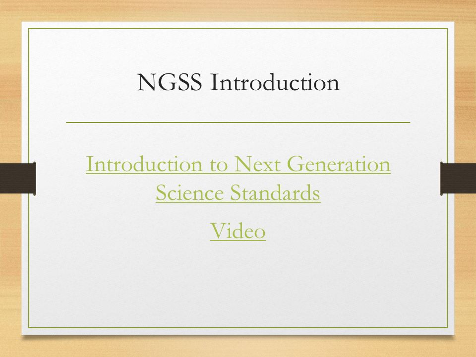 NGSS Introduction Introduction to Next Generation Science Standards Video