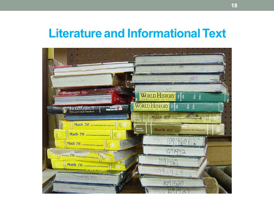 Literature and Informational Text 18