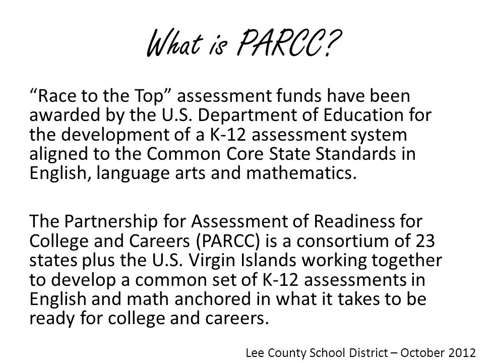 Parcc Overview Lee County School District January Ppt Download