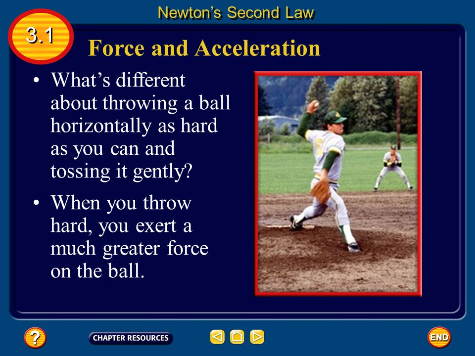 Newton's first law of motion states that the motion of an object changes only if an unbalanced force acts on the object.