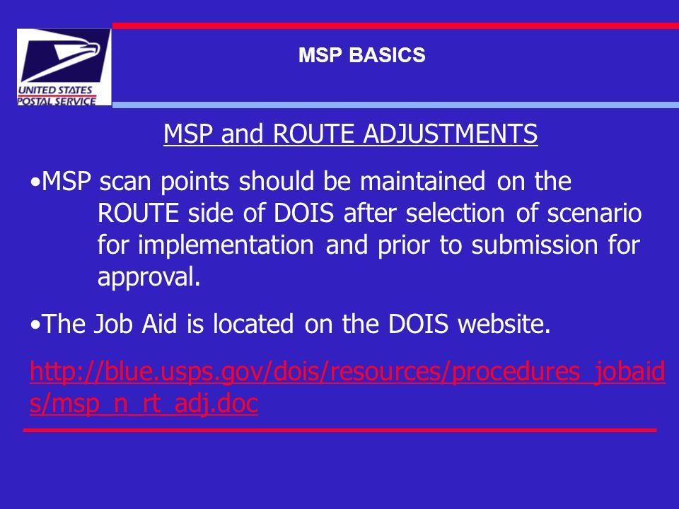 DOIS MSP BASICS June 1, MSP BASICS MSP BASE DATA WHERE DOES